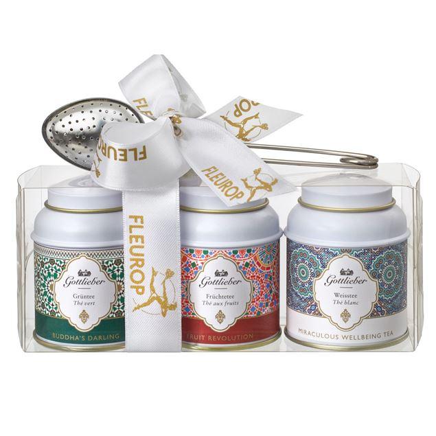 Gottlieber Geschenk-Set mit Grüntee, Früchtetee und Weissem Tee.