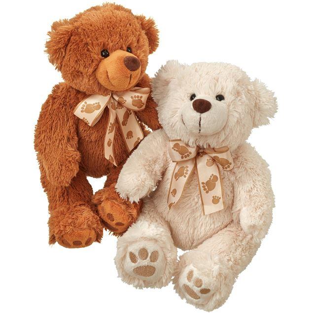 Teddybärenpaar (weiss & braun)