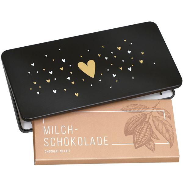 """Milchschokolade von Munz in Geschenkdose """"Heart"""""""