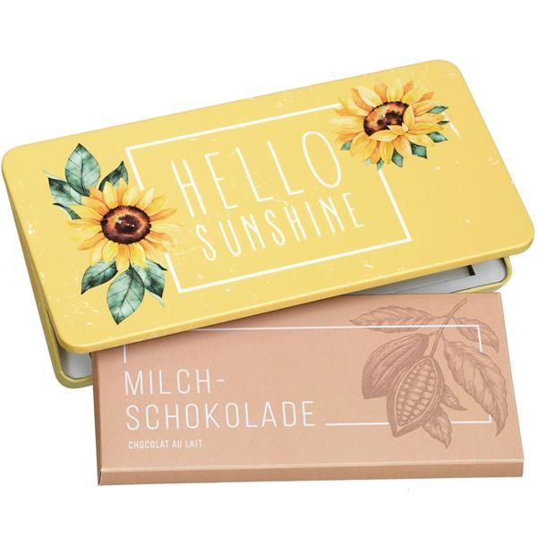 """Milchschokolade von Munz in Geschenkdose """"Hello Sunshine"""""""