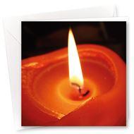 Karte Kerzenschein
