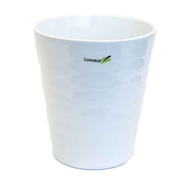 Übertopf Wave weiss Keramik Ø 13 cm H15 cm
