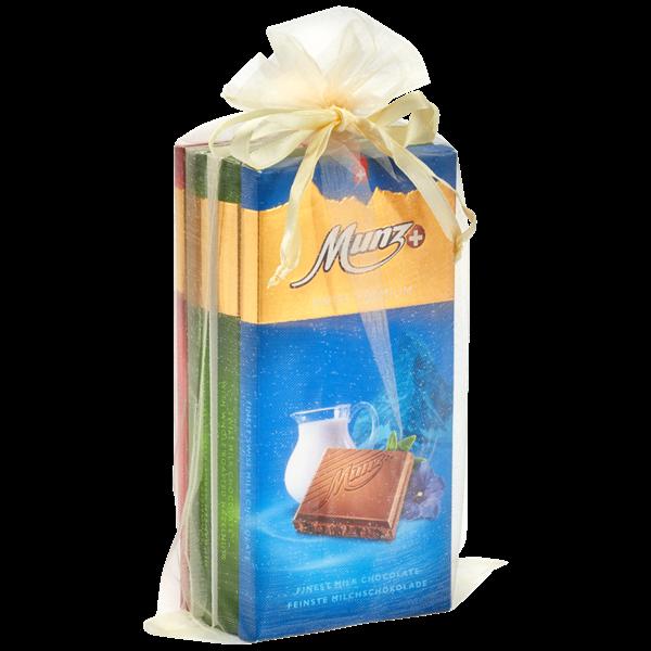 Munz Organza Säckchen mit 4 Tafeln