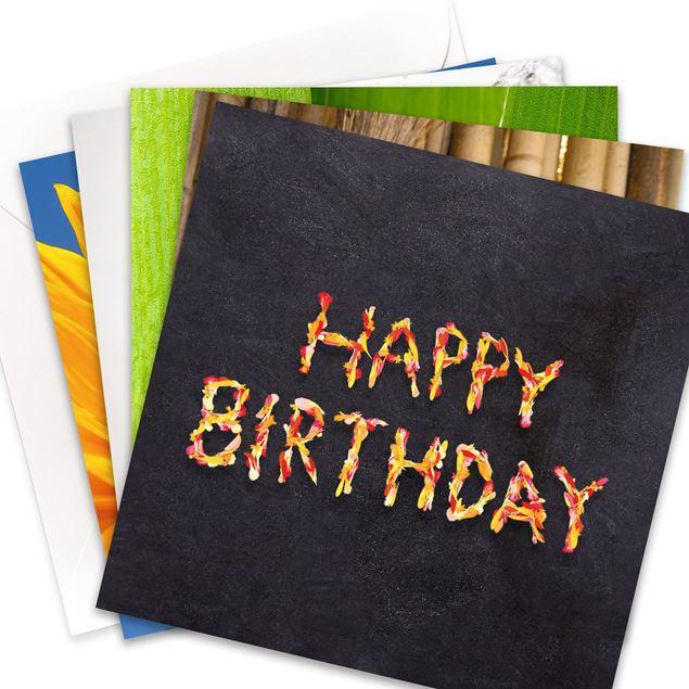 """Kartenset """"Happy Birthday"""" (10er-Set)"""