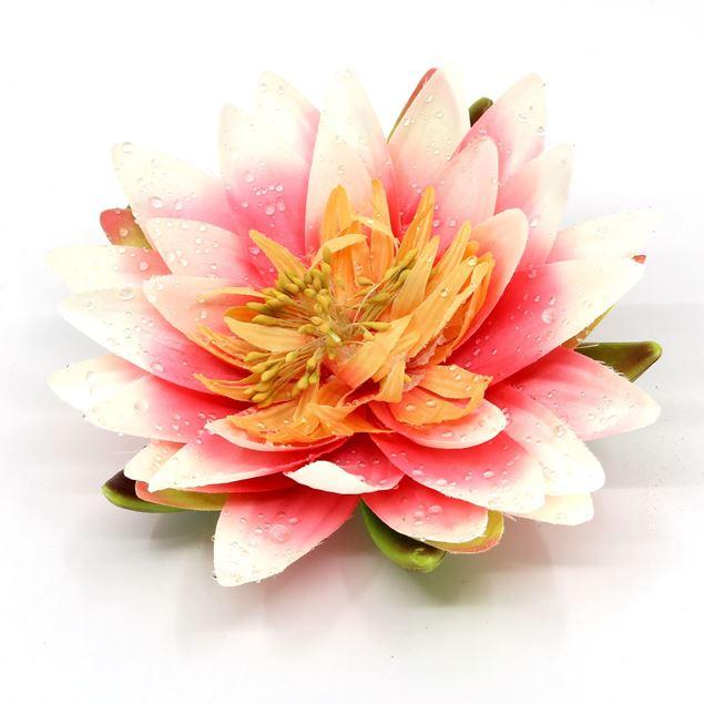 Bild von Seerose / Lotosblume künstlich Ø15cm rosa
