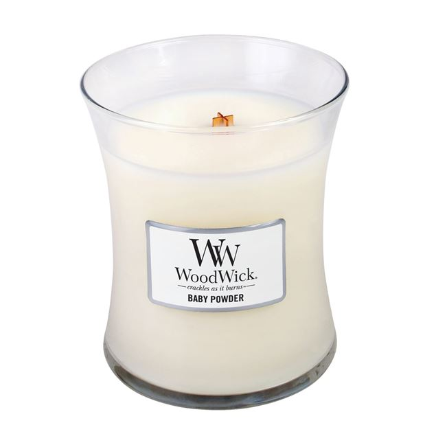 Image de Baby Powder Woodwick Medium Jar