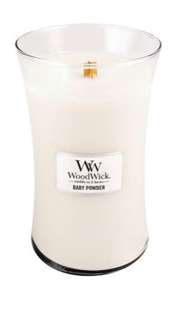Image de Baby Powder Woodwick Large Jar
