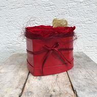 Bild von Ein Rosenbox-Herz mit 8 echten, stabilisierten Rosen in Rot Ø ca. 18 cm