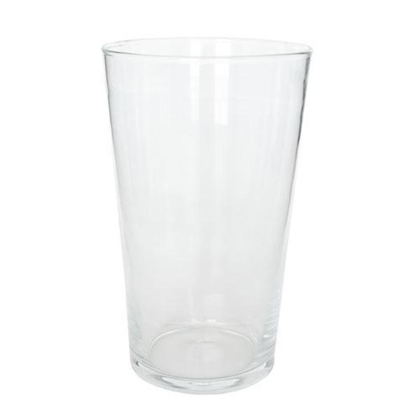 Glasvase, rund, konisch, Ø 15.5 cm x H 25 cm