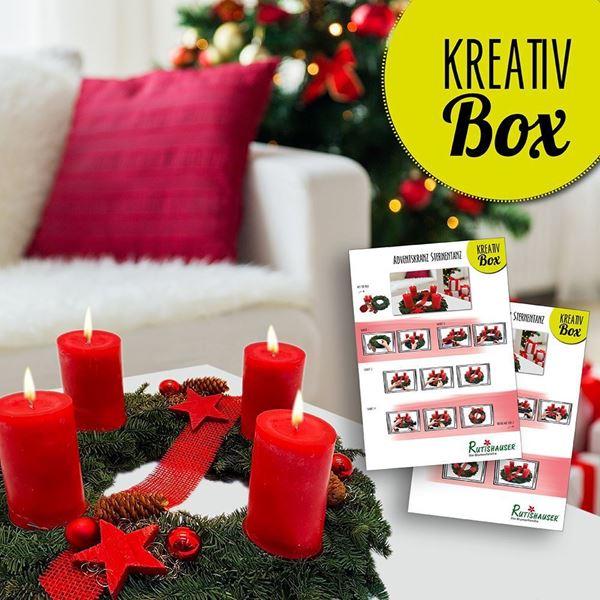 fleurophome kreativ box adventskranz rot. Black Bedroom Furniture Sets. Home Design Ideas