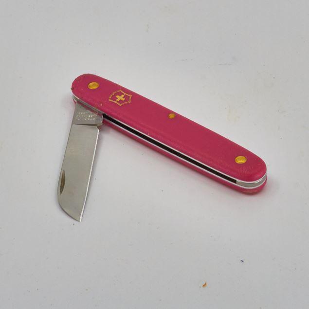 Image de Couteau fleurs 'Victorinox' rose, droitier