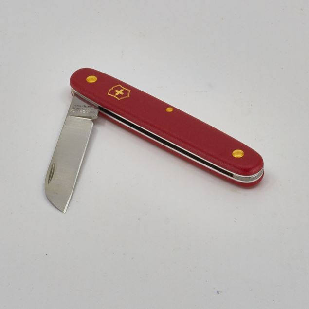 Image de Couteau fleurs 'Victorinox' rouge, droitier