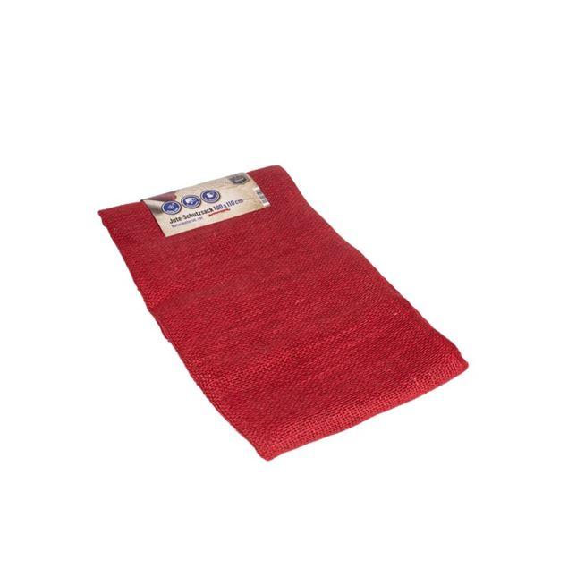 Image de Sac de protection de jute 100x110cm rouge