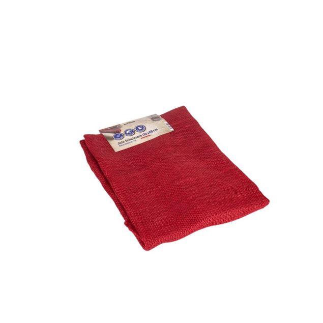 Image de Sac de protection de jute 110x60cm rouge
