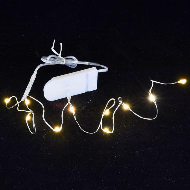 Bild von Batterie-Lichterkette 'Micro LED' 10 Lichter / 0.5 Meter