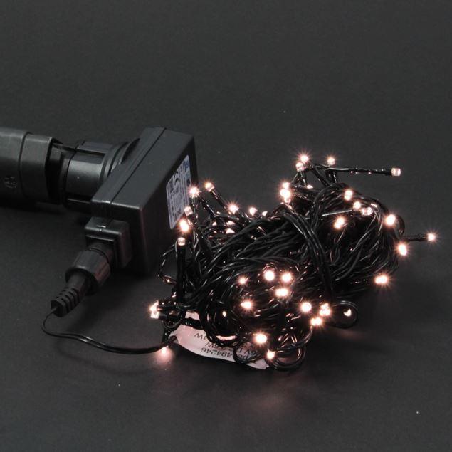 Bild von 230V-Lichterkette 'klassisch warmweiss' schwarz 80 Lichter / 6m