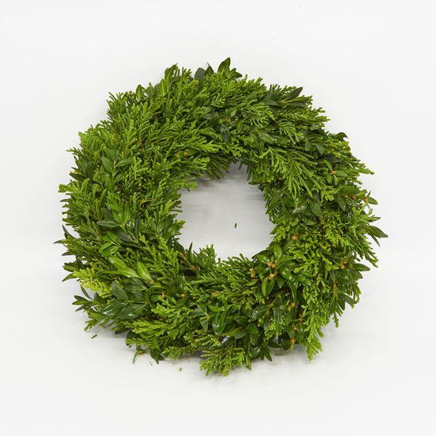 Image de Couronne lié 'à feuilles persistantes' Ø25 cm