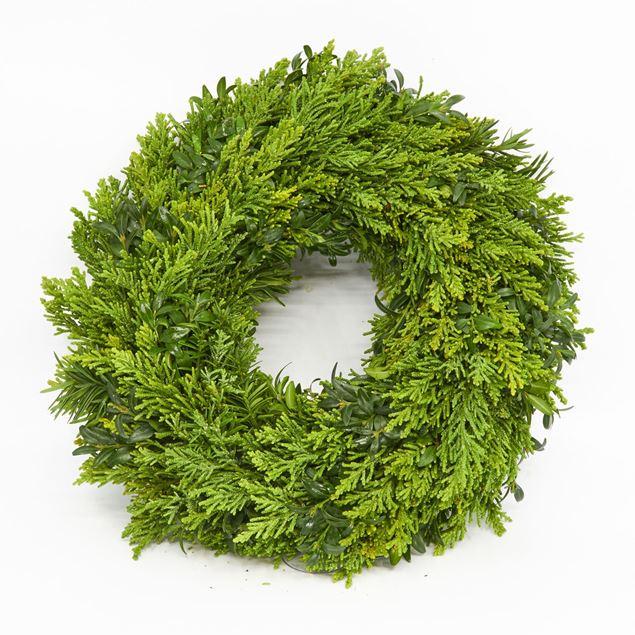 Image de Couronne lié 'à feuilles persistantes' Ø30 cm