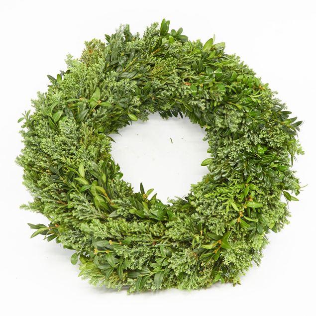Image de Couronne lié 'à feuilles persistantes' Ø35 cm