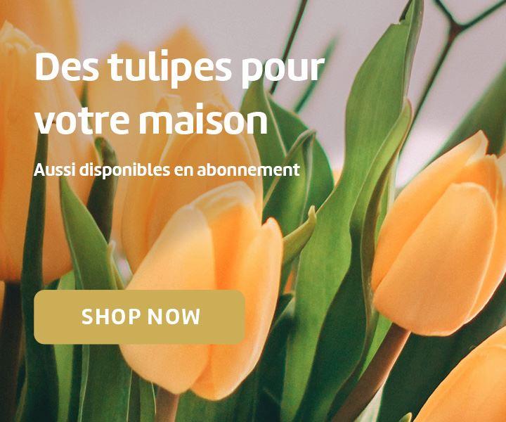 Des tulipes pour votre maison. Aussi disponibles en abonnement.