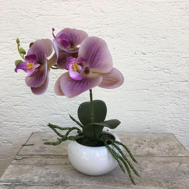Orchidee Textilblumen-Phalenopsis rosalila