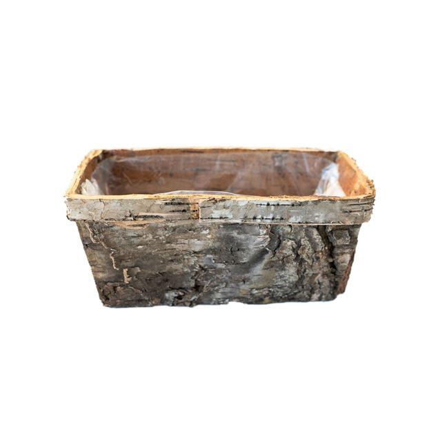 Birkenrindekorb, L 17 cm, B 9.5 cm, H 8 cm
