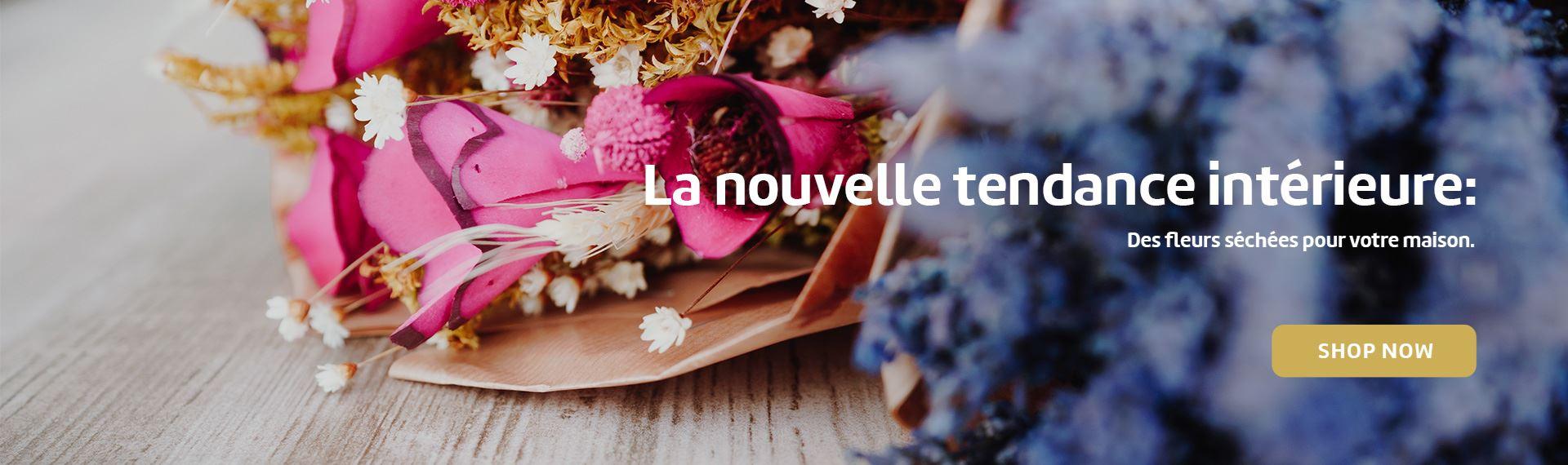 La nouvelle tendance intérieure: Des fleurs séchées pour votre maison.