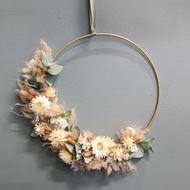 Flower Loop mit Trockenblumen Ø 35 cm